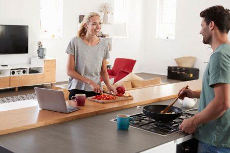 Sich wohlfühlen und die Küche nutzen